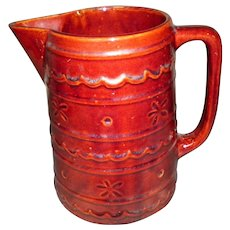 Large Brown Marcrest Oven Proof Stoneware Pitcher
