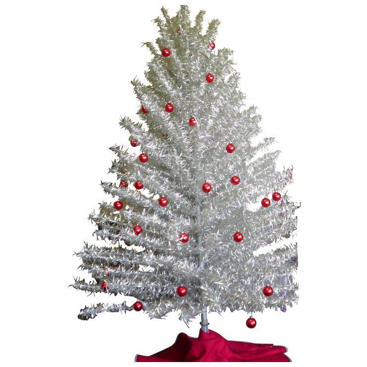 Vintage 6 200 Branch Aluminum Christmas Tree With Color Wheel