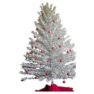 Vintage 6' 200 Branch Aluminum Christmas Tree with Color Wheel