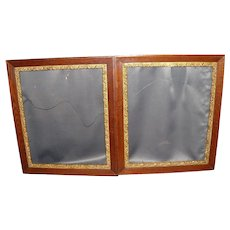 Pair of Matching Antique Wood with Gilding Picture Frames