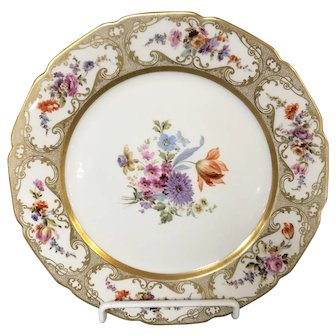 "Limoges William Guerin 11"" Dinner Plate Pattern GUE145"