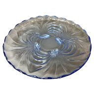 Large Cambridge Caprice Moonlight Blue Footed Platter