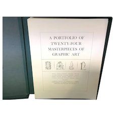 A Portfolio of 24 (19 Prints) Masterpieces of Graphic Art Herman Wechsler 1974