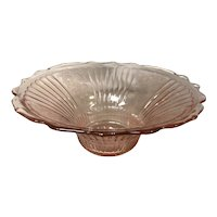 Mayfair Anchor Hocking Pink Depression Glass Fruit Bowl