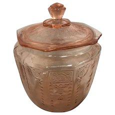 Anchor Hocking Pink Princess Depression Glass Cookie Jar