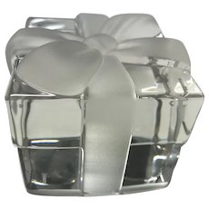 Tiffany & Co. Crystal Gift Box Paperweight