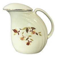 Hall China Autumn Leaf Refrigerator Pitcher with Lid