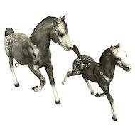 Breyer 1987 Running Appaloosa Mare / Horse and Foal Set
