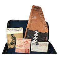 Vintage Oscar Schmidt Autoharp With Case