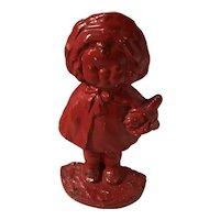 Hubley Cast Iron Little Red Riding Hood Doorstop / Door Stop