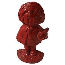Hubley Cast Iron Little Red Riding Hood Doorstop /Door Stop