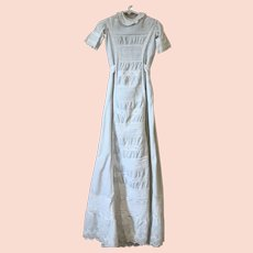 Child's Long White Victorian Christening Gown