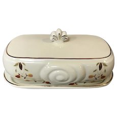 National Autumn Leaf Collector's Club Covered Butter Dish