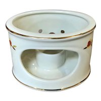 Hall's Superior Autumn Leaf Oval Warmer Stand / Candle Holder