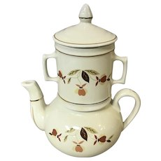 Autumn Leaf French Drip Coffee Biggin N.A.L.C.C. by Hall China