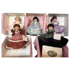 "Set of 5 Madame Alexander ""Little Woman"" Collection Dolls"