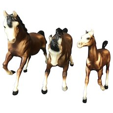 Set of 3 Breyer Running Stallion Mare and Foal.