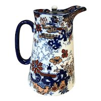 Antique Corey Hill Flow Blue Syrup Pitcher