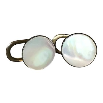 Antique Victorian Mother Of Pearl Cufflinks