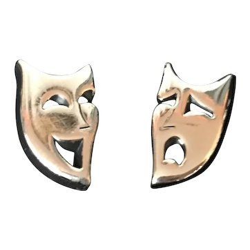 Theater Comedy and Tragedy Face Mask  Cufflinks