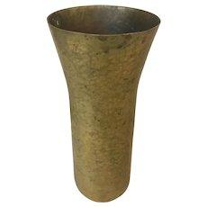 Hammered Brass Vase Signed Karl Hagenauer (WHW), Austria (Werkstatten Hagenauer Wien)