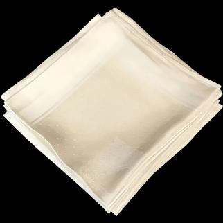 Set of 12 Linen Dinner Napkins, Hemmed, 18 inch
