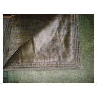 Antique Horse Hide And Wool Carriage Blanket