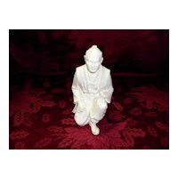 Alabaster Asian Figurine / Sculpture Signed A. Giannelli 1988