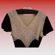 Antique Black Velvet Dress