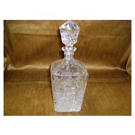 Vintage Brilliant Cut Glass Decanter With Stopper