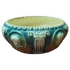 Antique Roseville Cherub Cameo Pottery Planter / Bowl