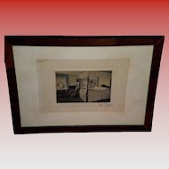 Fred Thompson Singed Hand Colored Interior Photograph / Print