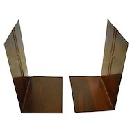 Copper Bookends Signed Roycroft
