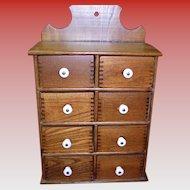 Vintage 8 Drawer Spice Cabinet