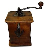 Antique Wooden Coffee Grinder Circa 1900