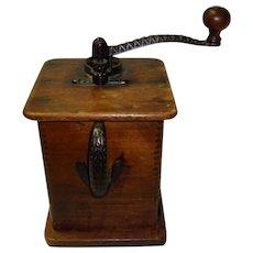 Antique Wooden Coffee Grinder Circa 1900 Sun Manufacturing Co.