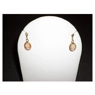 14kt Gold Genuine Cameo Earrings In The Original Box