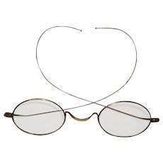 Antique 10Kt Gold Child's Size Wire Glasses