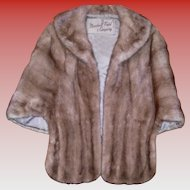 Vintage Mink Fur Stole / Cape From Marshall Field Co.