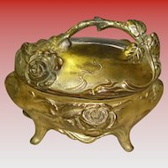 Pot Metal Jewelry Casket Trinket Box