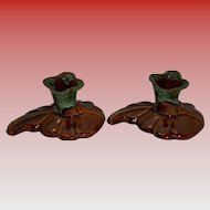Set Of 2 Van Briggle Candlestick Holders