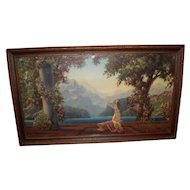 "Vintage R. Atkinson Fox Framed Print Titled ""Dawn"""