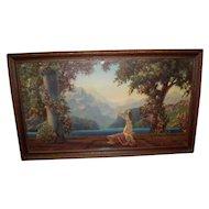 """Vintage R. Atkinson Fox Framed Print Titled """"Dawn"""""""