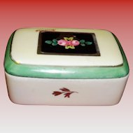FBS France Hand Painted Porcelain Trinket / Casket Box Signed Brommel