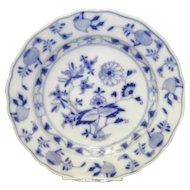 "9 3/4"" Blue On White Onion Pattern Meissen Dinner Plate"