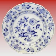 "9 3/4"" Blue On White Onion Pattern Meissen Dinner Plate"