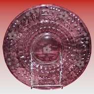 Large Vintage Depression Glass Torte Platter