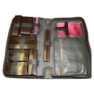 Vintage 16 Piece Travel Grooming Set In Case
