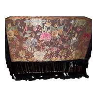 Antique Tapestry Piano Shawl  / Scarf / Tablecloth