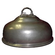1800's James Dixon & Sons Sheffield Large Pewter Meat Dome